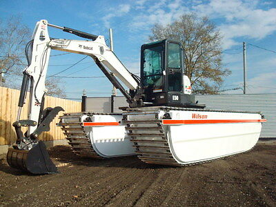 New Bobcat E50 Marsh Buggy with Amphibious Pontoons