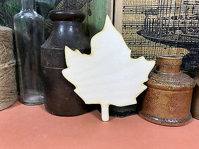 LEAF SHAPES WOODEN Maple Tree Wood Craft Shape Multiple Sizes 2.5cm to 25cm