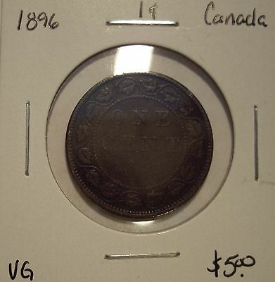 Canada Victoria 1896 Large Cent - VG