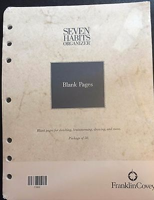 franklin covey seven habits organizer blank pages brand new in