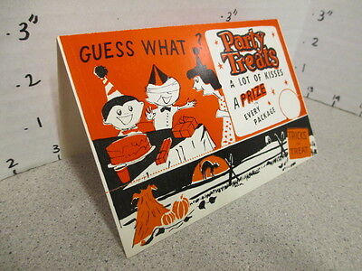 Williamson Candy bar company 1950s HALLOWEEN Guess What header card UNUSED