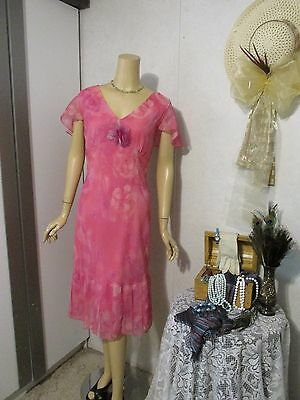 Mother Of The Bride Dress by Componix-Size 16-Pink Floral summer dress