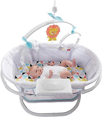 Fisher Price Soothing Motion Baby Bassinet Music Vibrations Calming Newborn NEW