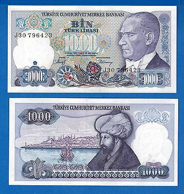 Turkey P-196 1000 Lire 1986 Uncircullated Banknote FREE SHIPPING