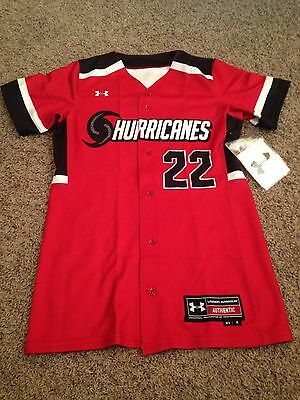 Under Armour Women's Hurricanes Softball Jersey Size Small NEW.