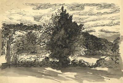 Harold Hope Read - Mid 20th Century Pen and Ink Drawing, Landscape