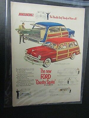 magazine ad of  1950  FORD  STATION WAGON AUTO