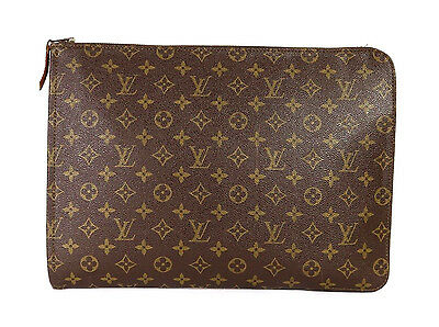 LOUIS VUITTON Vintage Monogram Canvas Classic Zip Portfolio Clutch Bag