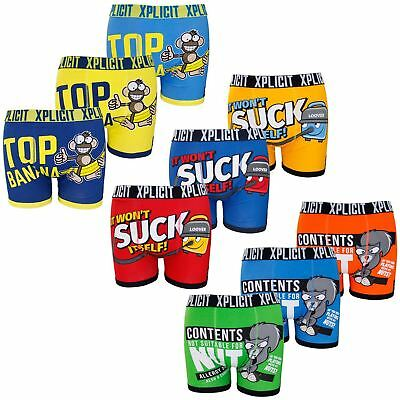 Mens Xplicit Funny Novelty Boxers Shorts Trunks Underwears