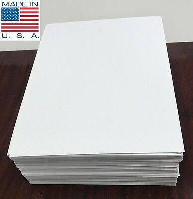 "1000 *LASER ONLY* 8.5"" X 5.5"" Half Sheet Self Adhesive Shipping Labels PLS Brand"