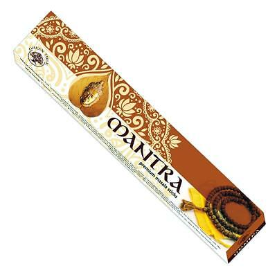 Mantra Premium Masala Stick Incense 6 X 15Gm Packets Fast Free Post Bulk Buy