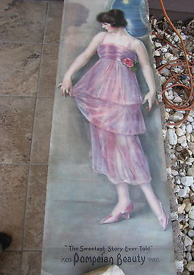 Antique 1920 Pompeian Beauty Panel Haskell Coffin Advertising Lithograph Print