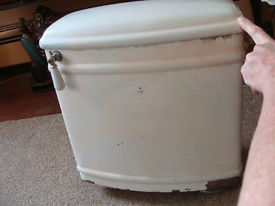 ANTIQUE SOLID COPPER TOILET TANK WITH ORIGINAL GUTS  Use as High Tank 1914