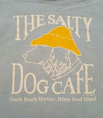 Salty Dog tshirt, 18 mo, HHI, lt blue, short sleeve, snap seat, GUC, beach, baby