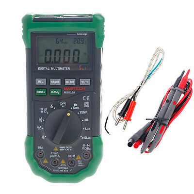 MS8229 5 in1 Auto Range Digital Multimeter Lux Sound Temperature Humidity Tester