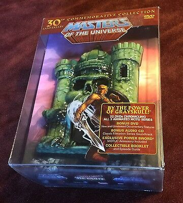 MASTERS OF THE UNIVERSE 30th Anniversary DVD Set He-Man OOP BRAND NEW SEALED