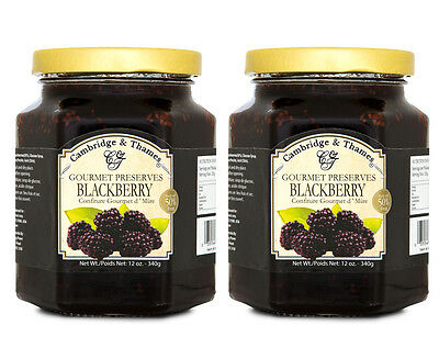 2 x Cambridge & Thames Blackberry Jam 340g