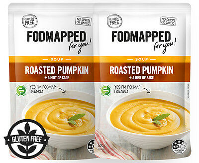 2 x Fodmapped For You Roasted Pumpkin Soup 500g