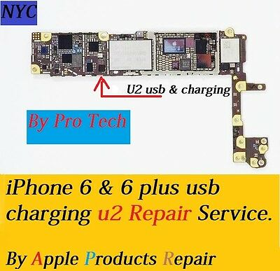 iPhone 6 & 6+ Charging USB IC U2 Chip 1610A2 Motherboard Pro Repair Service