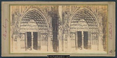 France. Stereoscope card. Strasbourg Cathedral, Alsace-Lorraine.