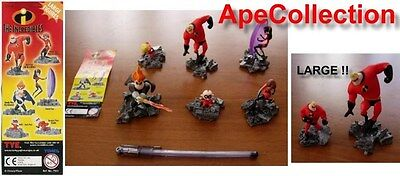 Rare SET 6 Figures THE INCREDIBLES Tomy LARGE Gashapon VIOLET MR MRS JACK DASH