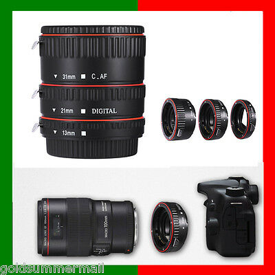 13/21/31MM Metal Auto Focus AF Macro Extension Tube/Ring Set For CANON EF-S Lens
