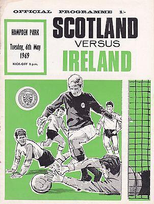 SCOTLAND v NORTHERN IRELAND ~ 6 MAY 1969 ~ BRITISH CHAMPIONSHIP