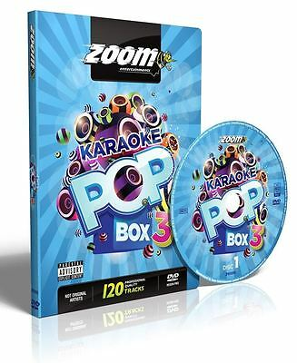 Zoom Karaoke Pop Box 3 DVD + G 2017 New Sealed