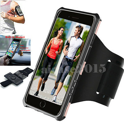 Sports Gym Exercise Running Armband Case For Samsung Galaxy S8+ iPhone 7 Plus