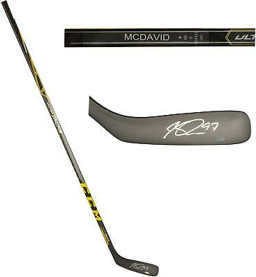 Connor McDavid Oilers Signed CCM Ultra Tacks Game Model Hockey Stick