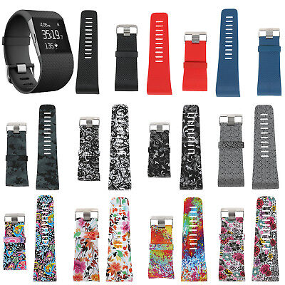 Silicone Rubber Replacement Band Wrist Strap w/Buckle Tool Kit For Fitbit Surge