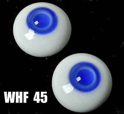 Colorful Blue Pupil&Iris 16mm Glass Eyes for Joint Reborn 1/4 BJD Dollfie