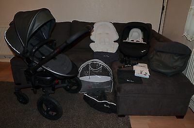 Full Travel System Silver Cross Surf inc car seat and accessories