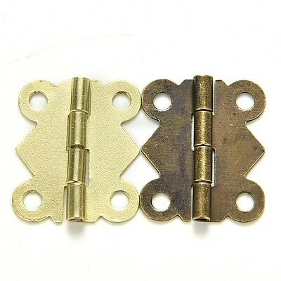 10Pcs Antique Brass Butterfly Hinge for Jewelry Chest Box Wood Cabinet Hot
