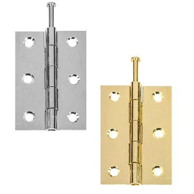 Door Butt Hinge Loose Pin 75mm 3 Inch Brass & Chrome UK Quality Price Per Hinge