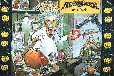 Helloween Flagge Fahne Posterflagge Dr. Stein
