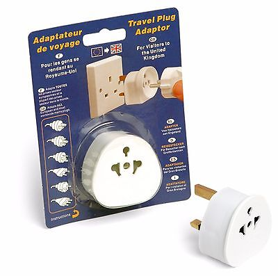 Travel Spot Quality 3 Pin Travel Plug Adaptor 13 Amp Safety Tested Europe to UK