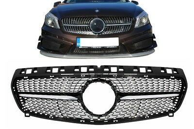 Zentralgrill Mercedes A-Class W176 12-15 A45 Diamantgrill AMG Look Kühlergrill..