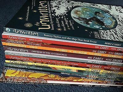 The UNWRITTEN TPB graphic novels - full run 12 vols, vol 2 signed by Mike Carey