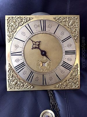 Early 30 Hour Brass Dial Longcase Movement: Savage-Clifton