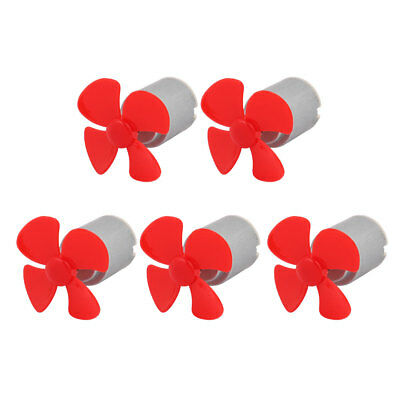 5pcs DC 3V 0.13A 17000RPM Strong Force Motor 4 Blades 40mm Red Propeller