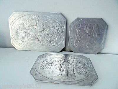 Early America 1930s SAYFORD CO. trivets hot plates BROOKLYN NY pilgrims Indians