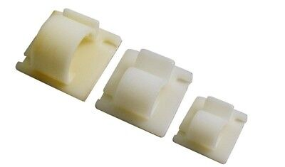 10x Self Adhesive Cable Clips Large - 14.5mm Wot-Nots PWN607 NEW MULTIBUY SAVER