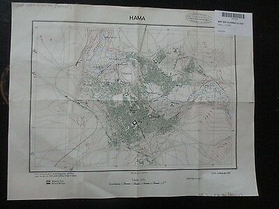 CITY OF HAMA :OLD MILITARY FRENCH MAP 1:10000 SCALE,ISSUED by FFLL,1941. VBOK182