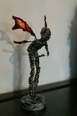 wire fairy sculpture..faerie ....elf ...sprite fantasy