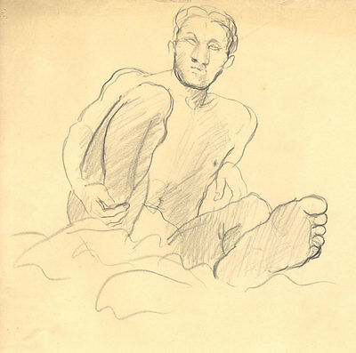 Elinor Bellingham-Smith - Fine Early 20th Century Graphite Drawing, Male Nude