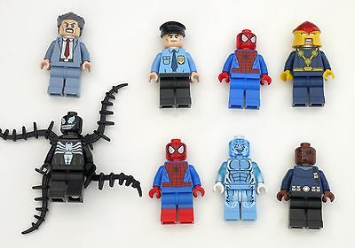 LEGO Lot of 8 Spider-Man Theme Minifigures - Nova, Venom, Etc..