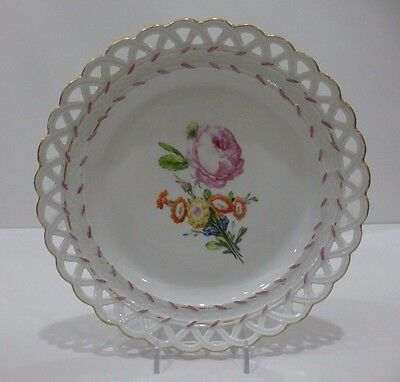 Russian Imperial Porcelain Manufactory Reticulated Plate, period of Catherine II