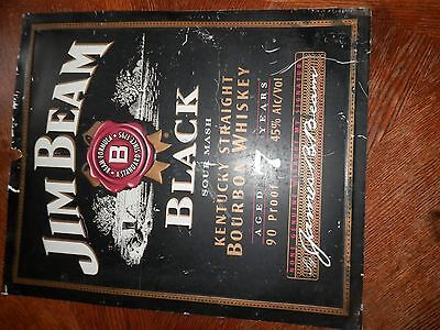 Vintage Jim Beam Whiskey Metal Sign, Has Some Scratches, Measures 18 x 21.5 in