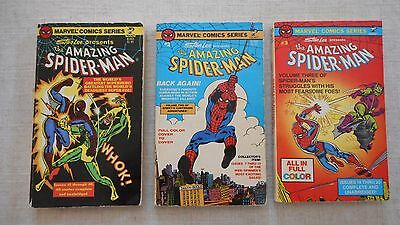 Vintage Amazing Spider-Man Lot of 3 Marvel Comics Series Pocket Books 1, 2 & 3